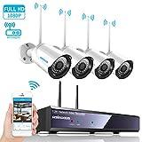 4CH 1080p HD Überwachungskamera System mit WIFI...
