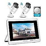 1080P Überwachungskamera Set mit 12 Zoll Monitor...