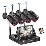 SWINWAY WLAN Überwachungskamera Set, Drahtlose...