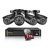Anlapus 1080P Außen Überwachungskamera Set 8CH...