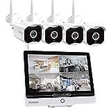 Überwachungskamera Set mit Monitor 8CH 12 Zoll...