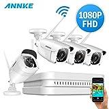 ANNKE WLAN Überwachungskamera Set 8CH 1080P...
