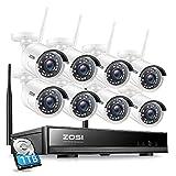 ZOSI 8CH HD 1080P Funk Überwachungskamera System...