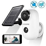 AKKU Überwachungskamera mit Solarpanel Kabellos...