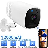 WLAN Kamera Akku Überwachungskamera 1080 HD...