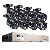 ZOSI 8CH 1080P Full HD Überwachungskamera System...