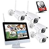 ANNKE Überwachungskamera Set mit Monitor 1080P...
