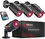 ANRAN 4CH 1080N Überwachungskamera System DVR...