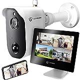 LUVISION Akku-Überwachungskamera mit 9' Monitor...