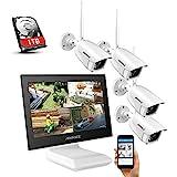 ANNKE Überwachungskamera Set mit Monitor 4CH 10.1...